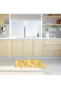 Tapete De Cozinha Mdecore Galhos Amarelo 40X60Cm