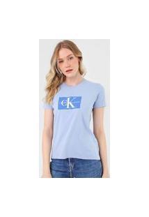 Camiseta Calvin Klein Jeans Issue Azul
