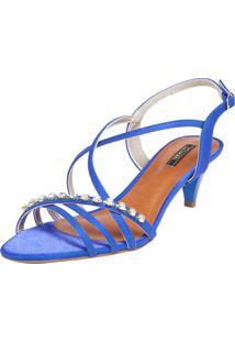 Sandália Crysalis Strass Azul
