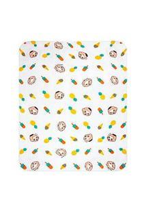 Cobertor Bebê Masculino Cebolinha E Cascão Baby Branco E Verde (90X110Cm) - Turma Da Mônica - Tamanho Único - Branco,Verde,Amarelo