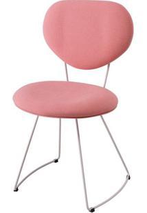 Cadeira Pimpom Rosa Com Base Curve Branca - 49561 - Sun House