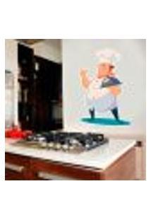 Adesivo De Parede Chefe De Cozinha 2 - P 33X45Cm