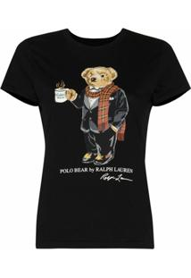 Polo Ralph Lauren Camiseta Slim Polo Bear - Preto