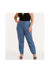 Calça Plus Size Feminina Jeans Mom