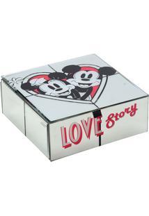 Porta Joias Love Story Disney®- Branco & Vermelho- 6Mabruk