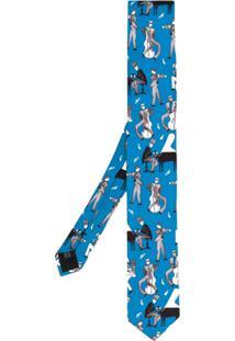 Dolce & Gabbana Gravata 'Jazz Club' De Seda - Azul