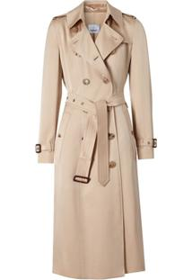 Burberry Trench Coat De Cetim - Rosa