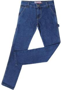 Calça Jeans Carpinteira Rodeo Western Masculina - Masculino-Azul