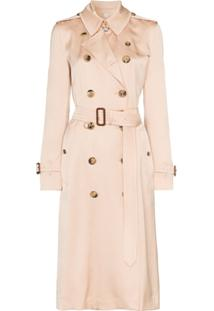 Burberry Boscastle Double-Breasted Trench Coat - Rosa