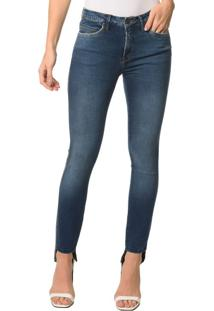 Calça Jeans Five Pocktes Mid Rise Skinny Ckj 011 Mid Rise Skinny - Marinho - 44