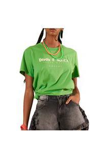 Camiseta Colcci Now Verde Feminino