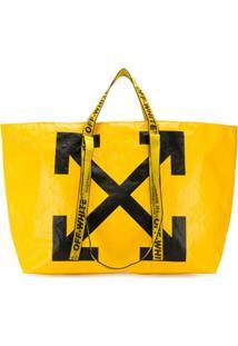 Off-White Bolsa Tote Com Estampa - Amarelo