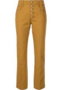 Tory Burch Vestido Jeans Com Botões - Marrom