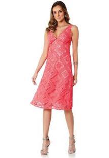 Vestido Midi Lala Dubi - Feminino-Coral
