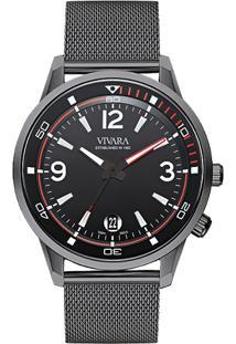 a8cc0429017 ... Relógio Vivara Masculino Aço Chumbo - Ds13274R1A-1