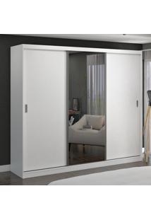 Guarda-Roupa Casal 3 Portas De Correr Com 1 Espelho 100% Mdf 7320G4E1 Branco - Foscarini