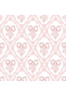 Papel De Parede Adesivo Stickdecor Baby Lacinho Rosa
