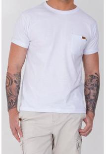 Camiseta Equivoco Reta Calvin Masculina - Masculino-Branco