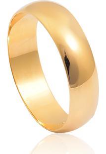 Aliança De Ouro 18K Anatômica Abaulada Polida Lisa (4,80Mm)
