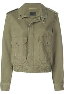 Saint Laurent Patch Pockets Military Jacket - Verde