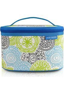 Necessaire Frasqueira Jacki Design De Poliéster - Feminino-Azul