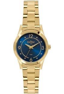 Relógio Condor Aço Feminino - Feminino-Dourado