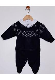 Enxoval Tricot Infantil Para Bebê Menino - Azul Marinho