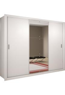 Roupeiro Veneza Luxo 3 Portas Branco Mobillare Movelaria - Branco - Dafiti