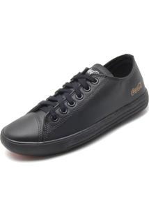 Sapatênis Couro Coca Cola Shoes Fosco Preto