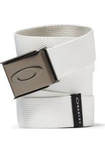 Cinto Oakley Ellipse Web Belt Masculino - Masculino-Branco