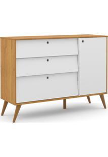 Cômoda Gold Freijó/Branco Soft/Eco Wood Matic Móveis