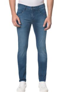 Calça Jeans Five Pockets Super Skinny - Azul Médio - 38