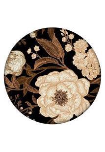 Tapete Love Decor Redondo Wevans Flor 94Cm