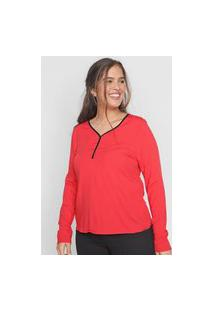 Blusa Cativa Lisa Vermelha