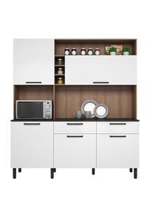 Cozinha Compacta Itatiaia Dara Com Tampo 5 Portas 2 Gavetas