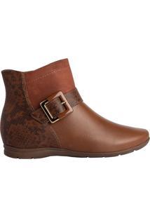 Bota Feminina Comfortflex Ankle Boot Caramelo - 35