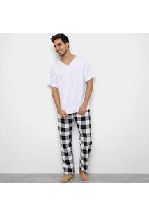 Pijama Be Cciolo Estampa Xadrez Masculino - Masculino