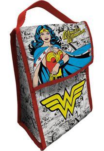 Bolsa Térmica Wonder Woman®- Branca & Amarela- 26X19Urban