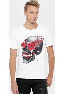 Camiseta Sergio K Skull Flowers - Masculino