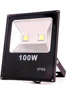 Refletor Holofote Led Branco Quente 3000K Luz Amarela 100W
