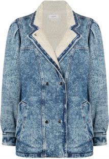 Isabel Marant Étoile Jaqueta Jeans Com Abotoamento Duplo - Azul