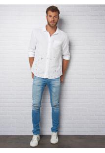 Calça John John Skinny Vancouver 3D Jeans Azul Masculina (Jeans Medio, 38)