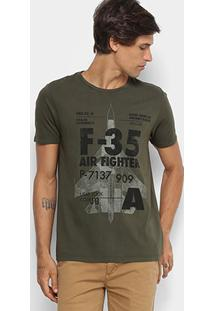 Camiseta Jab Gola Careca Masculina - Masculino-Verde