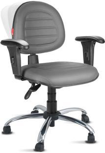 Cadeira Ergonômica Nr17 Costura Premium Cinza