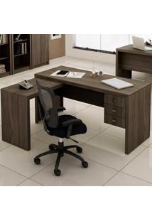 Mesa Para Computador Com 3 Gavetas Me4106 - Tecno Mobili - Carvalho