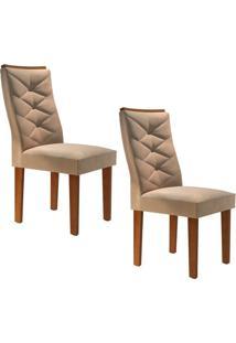 Conjunto Com 2 Cadeiras Riviera Chocolate E Pena