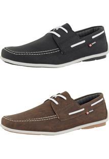 Kit Dockside Cr Shoes Lançamento Café E Preto