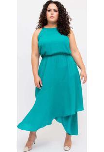 Vestido Midi Almaria Plus Size Pianeta Assimétrico