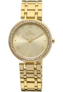 Relógio Feminino Allora Al2035Jh/4D - Unissex-Dourado