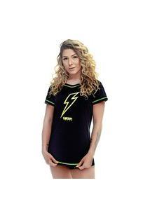 Camiseta Shatark Round Energy - Preto